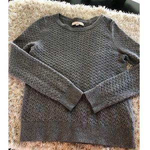 Ann Taylor Loft Grey Silver Sweater Size Large
